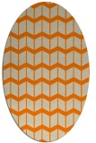 rug #1013729 | oval orange gradient rug