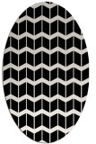 rug #1013733 | oval white gradient rug