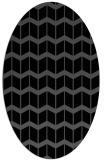 rug #1013737 | oval black gradient rug
