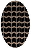 rug #1013741 | oval black gradient rug