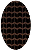 rug #1013745 | oval black gradient rug