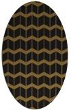 rug #1013749 | oval black gradient rug
