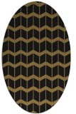 rug #1013757 | oval mid-brown gradient rug