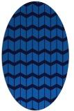 rug #1013761 | oval blue gradient rug