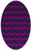 rug #1013765 | oval blue gradient rug