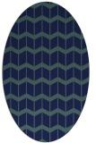 rug #1013769 | oval blue gradient rug