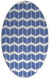 rug #1013777 | oval blue gradient rug
