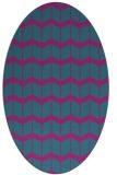 rug #1013813 | oval pink gradient rug