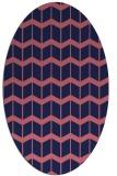 rug #1013825 | oval gradient rug