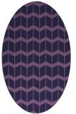 rug #1013829 | oval purple gradient rug