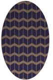 rug #1013837 | oval beige gradient rug