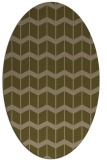 rug #1013845 | oval mid-brown gradient rug