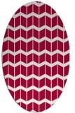 rug #1013849   oval red gradient rug