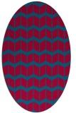 rug #1013854 | oval gradient rug