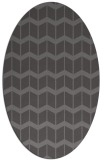 rug #1013877 | oval mid-brown gradient rug