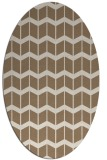 rug #1013881 | oval mid-brown gradient rug