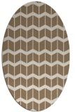 rug #1013881 | oval beige gradient rug