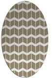 rug #1013885 | oval mid-brown gradient rug