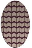 rug #1013889 | oval pink gradient rug
