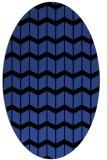 rug #1013925 | oval black gradient rug