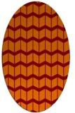 rug #1013929 | oval red-orange gradient rug