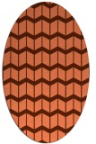 rug #1013941 | oval red-orange gradient rug
