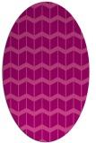 rug #1013945 | oval pink gradient rug