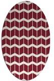 rug #1013949 | oval pink gradient rug