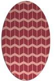 rug #1013953 | oval pink natural rug