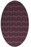 rug #1013961 | oval purple gradient rug