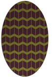 rug #1013965 | oval green popular rug