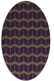 rug #1013969 | oval mid-brown gradient rug