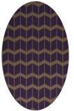rug #1013969 | oval purple gradient rug