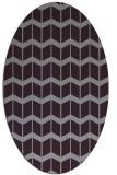rug #1013973 | oval purple gradient rug