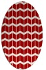 rug #1013977 | oval red gradient rug