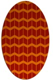 rug #1013981 | oval red gradient rug