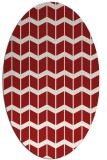 rug #1013985 | oval red gradient rug