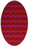 rug #1013989 | oval red gradient rug