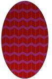 rug #1013989 | oval pink gradient rug