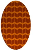 rug #1013993 | oval red-orange gradient rug