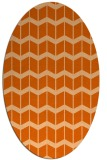 rug #1013997 | oval red-orange gradient rug