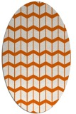 rug #1014005 | oval red-orange gradient rug