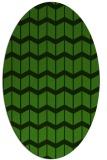 rug #1014009 | oval light-green rug