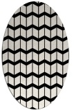 rug #1014013 | oval white gradient rug