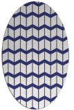rug #1014021 | oval white gradient rug