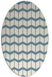 rug #1014033 | oval white gradient rug