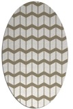 rug #1014037 | oval white gradient rug