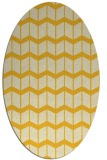 rug #1014041 | oval yellow gradient rug