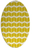 rug #1014049 | oval yellow gradient rug