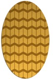 rug #1014053 | oval light-orange gradient rug